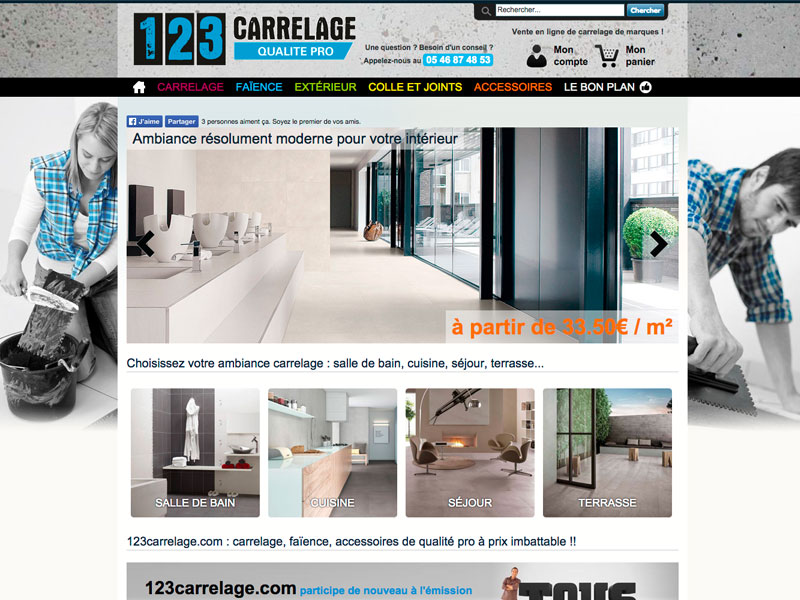 Atlantic Multimedia Site Ecommerce Carrelage Atlantic Multimedia - Carrelage e commerce